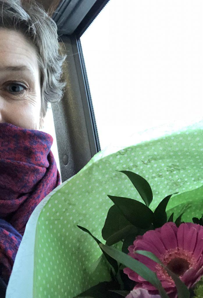 Blomsterbuket fra nyt job